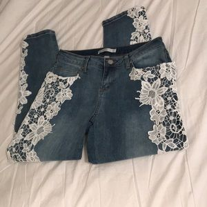 Boston Proper Embroidered Jeans